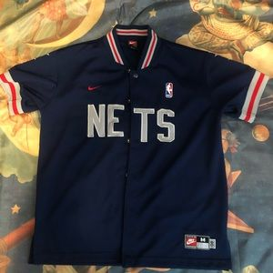Vintage New Jersey Nets Warm Up Jersey
